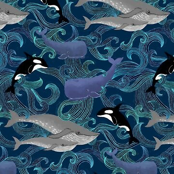 Beautiful Ocean Giants - teal by micklyn