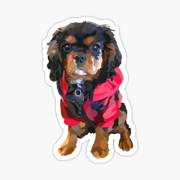 Wilson in His Little Red Coat Sticker