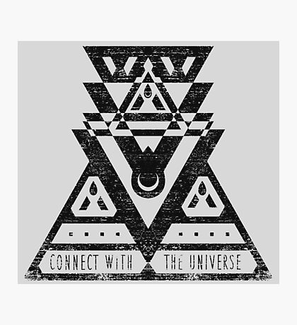 Connect With The Universe - Typography and Geometry Photographic Print