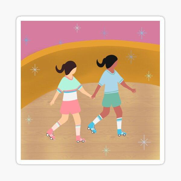 Disco Roller Skating Sticker