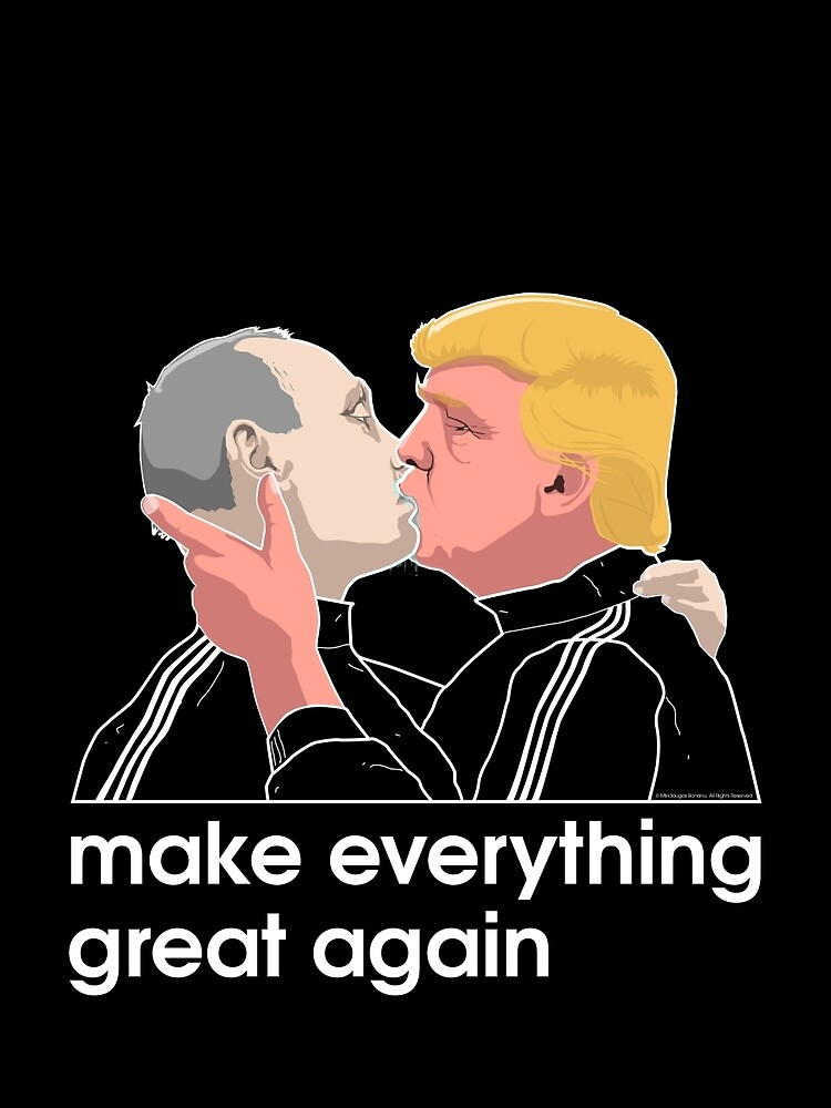 Trump kissing Putin by mindaugasbonanu