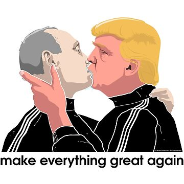 Trump kissing Putin by mindaugasbonanu
