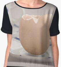 Theres more than one sort of eggcup Women's Chiffon Top
