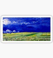Vincent van Gogh Wheatfield under Thunderclouds Sticker
