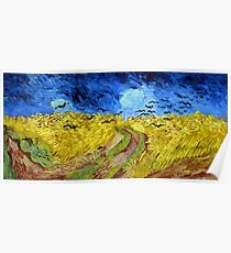 Vincent van Gogh Wheatfield with Crows Poster