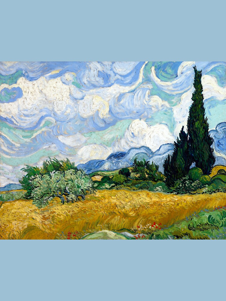 Vincent van Gogh Wheatfield with Cypresses by pdgraphics