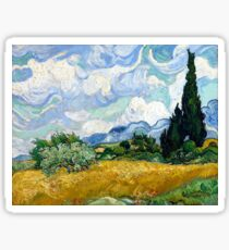 Vincent van Gogh Wheatfield with Cypresses Sticker
