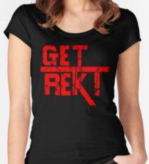 Rekt - ONE:Print Women's Fitted Scoop T-Shirt