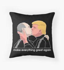 Trump kissing Putin Throw Pillow
