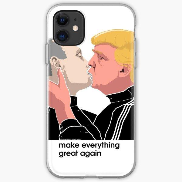 Trump kissing Putin iPhone Soft Case