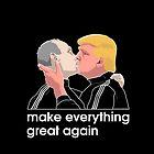 Trump kissing Putin by Mindaugas Bonanu
