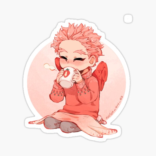 Strawberry Hawks Sticker