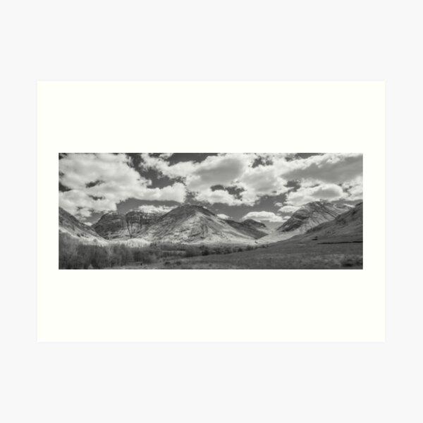 Glencoe infrared panorama Art Print