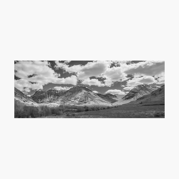 Glencoe infrared panorama Photographic Print