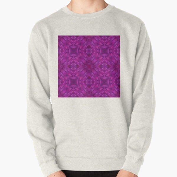 ornamental pattern with purple color Pullover Sweatshirt