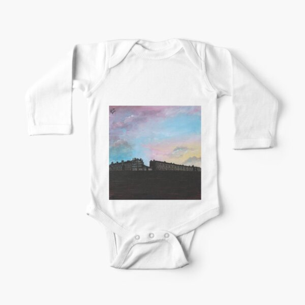 Priory Road at Dusk Long Sleeve Baby One-Piece