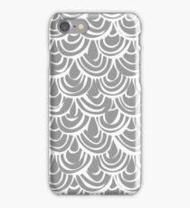 monochrome scallop scales iPhone Case/Skin