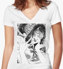 [Monochrome] Possession Design  Women's Fitted V-Neck T-Shirt