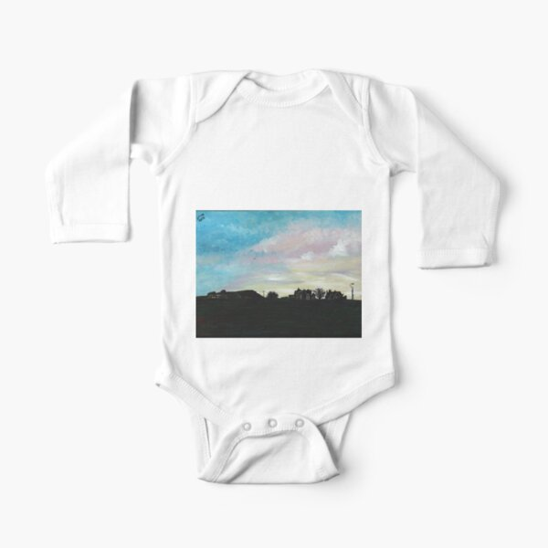 West Hill Cafe at Dusk Long Sleeve Baby One-Piece