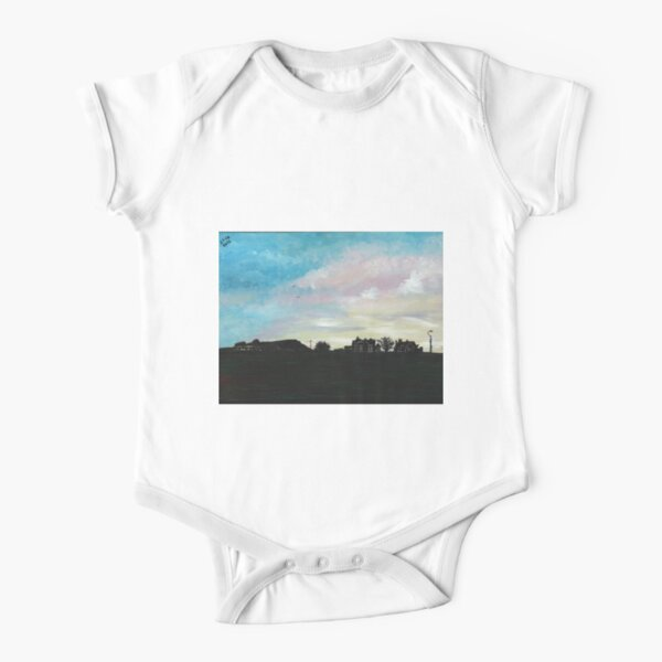 West Hill Cafe at Dusk Short Sleeve Baby One-Piece