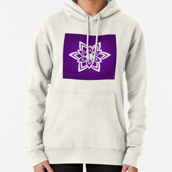ornamental pattern with purple color Pullover Hoodie