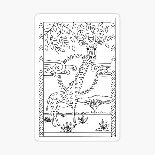 Lovely Giraffe Sticker