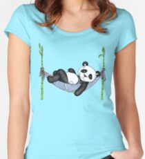 iPod Panda Women's Fitted Scoop T-Shirt