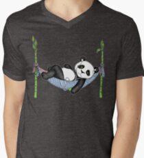 iPod Panda Men's V-Neck T-Shirt