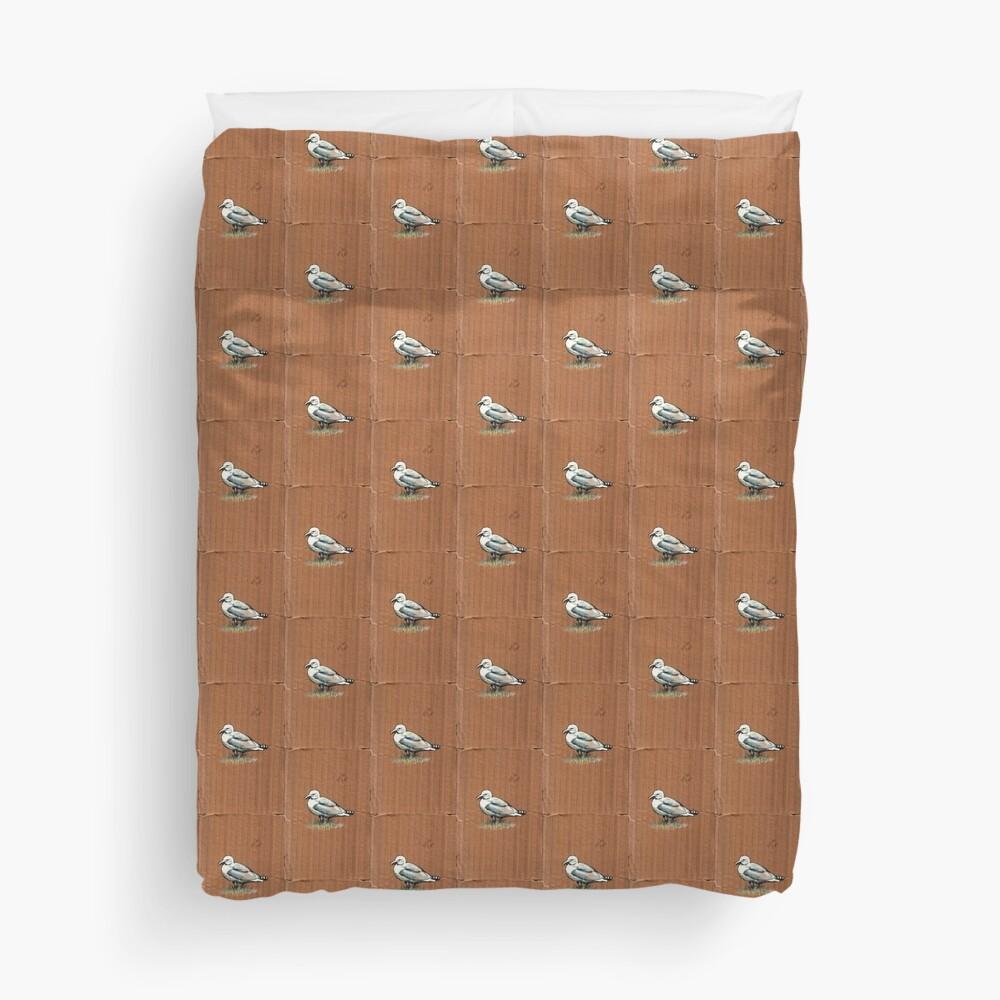 Gulls on Grass, #4 Duvet Cover