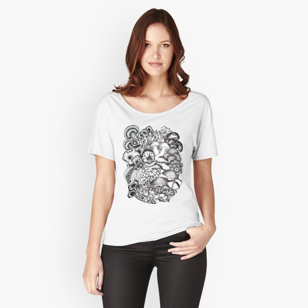A Medley of Mushrooms Women's Relaxed Fit T-Shirt Front