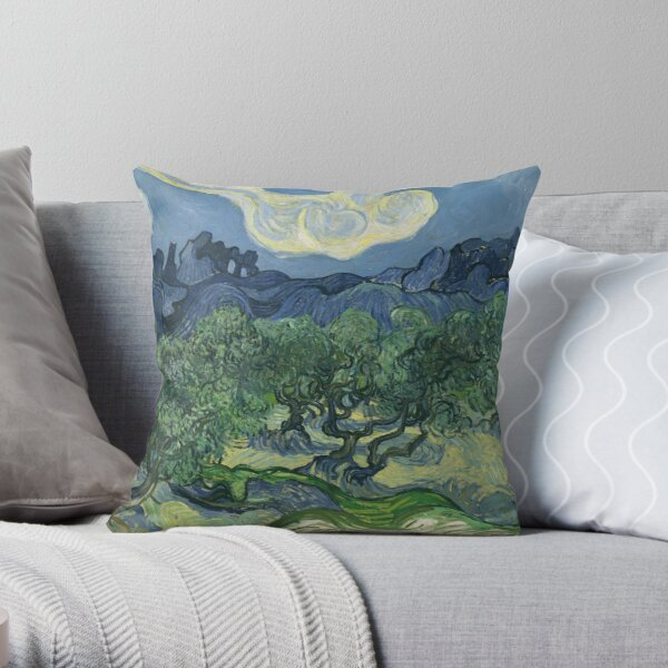 The Olive Trees by Vincent Van Gogh Throw Pillow