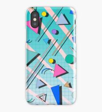 80s pop retro pattern 4 iPhone Case