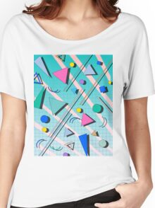 80s pop retro pattern 4 T-shirt femme coupe relax