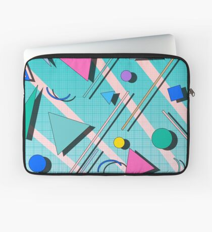 80s pop retro pattern 4 Housse de laptop