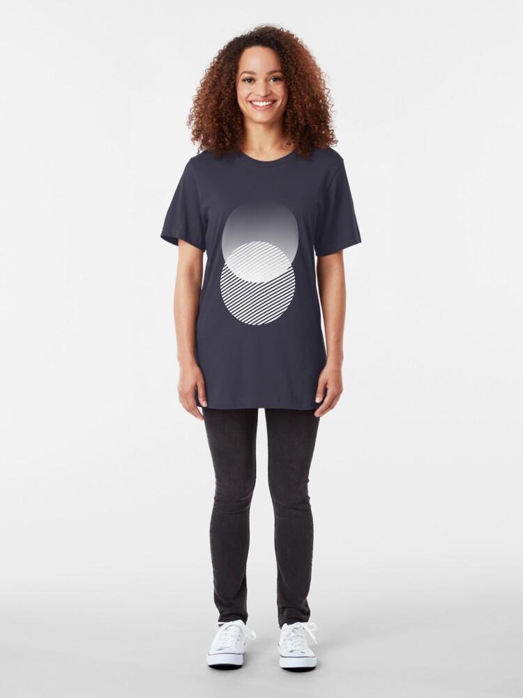 Alternate view of minimal shapes 003 Slim Fit T-Shirt