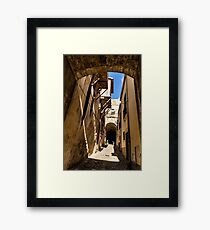 Sharp Shadows Passageway - Old Town Noto, Sicily, Italy Framed Print