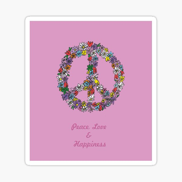 Peace and Flowers  Sticker