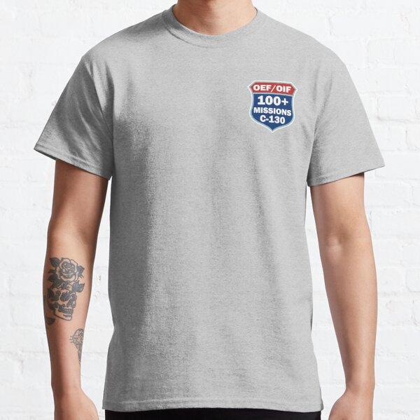 C-130  Combat Sorties Patch 100+ Classic T-Shirt