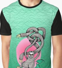 Wiggly Armed Jungle Sloth  Graphic T-Shirt