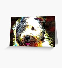 Sheepdog Greeting Card