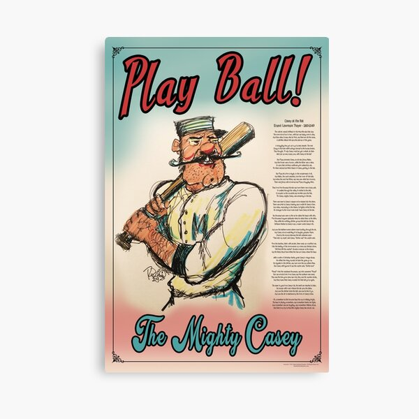 Play Ball! The Mighty Casey Canvas Print