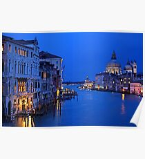 Night falling on the Grand Canal - Venice Poster