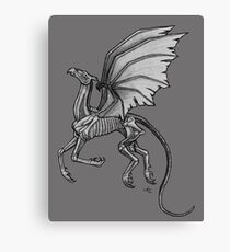 Thestral #2 with Gray Background Canvas Print