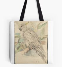 Sulphur-crested cockatoo -- graphite and watercolor drawing Tote Bag