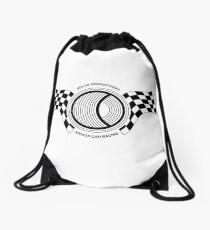 Steve McQueen Solar Productions Sports Car Racing Black Text Drawstring Bag