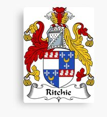 Ritchie Coat of Arms / Ritchie Family Crest Canvas Print