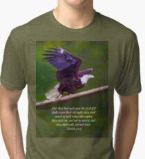 Wings Like Eagles Tri-blend T-Shirt