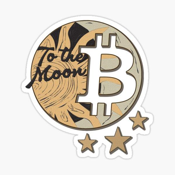 BTC to the Moon, Bitcoin Sticker