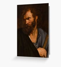 The Apostle Judas Thaddeus, Anthonie van Dyck Greeting Card