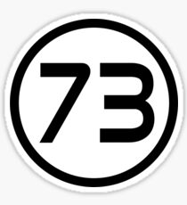73 - The Best Number Sticker